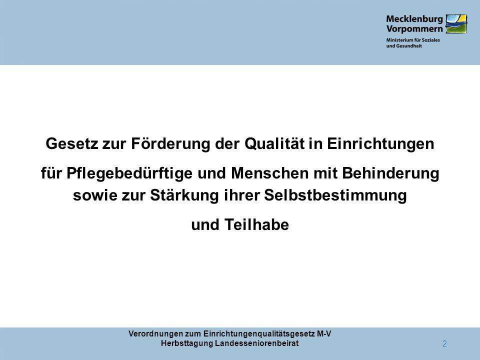 Gesetz zur Förderung der Qualität in Einrichtungen