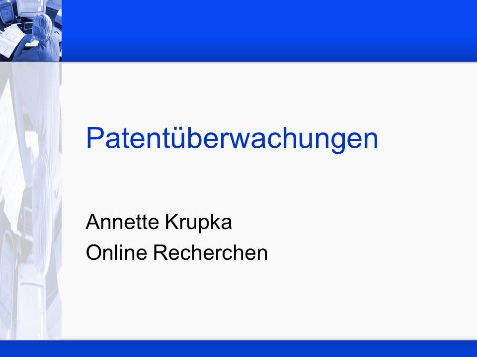 Annette Krupka Online Recherchen