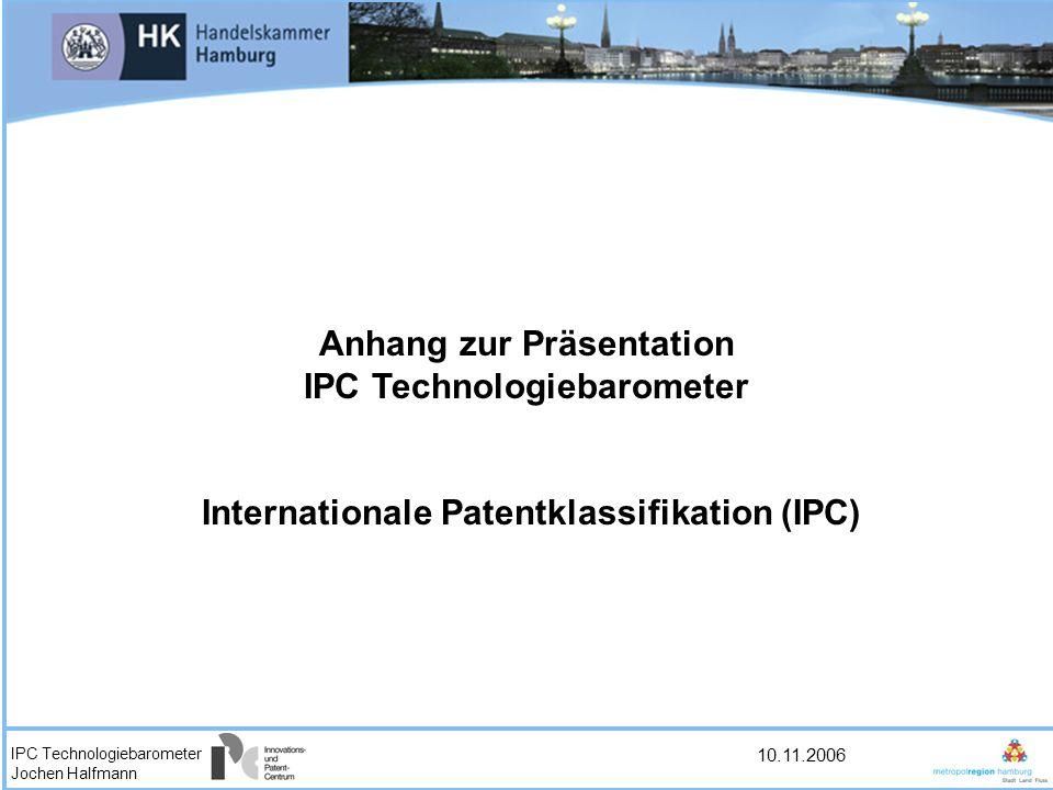 Anhang zur Präsentation IPC Technologiebarometer
