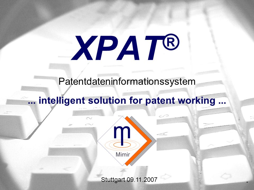 ... intelligent solution for patent working ...