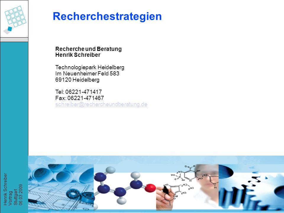 Recherchestrategien Recherche und Beratung