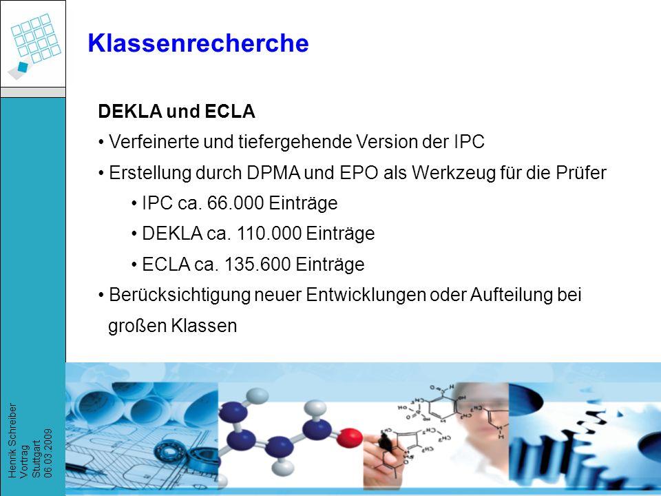 Klassenrecherche DEKLA und ECLA