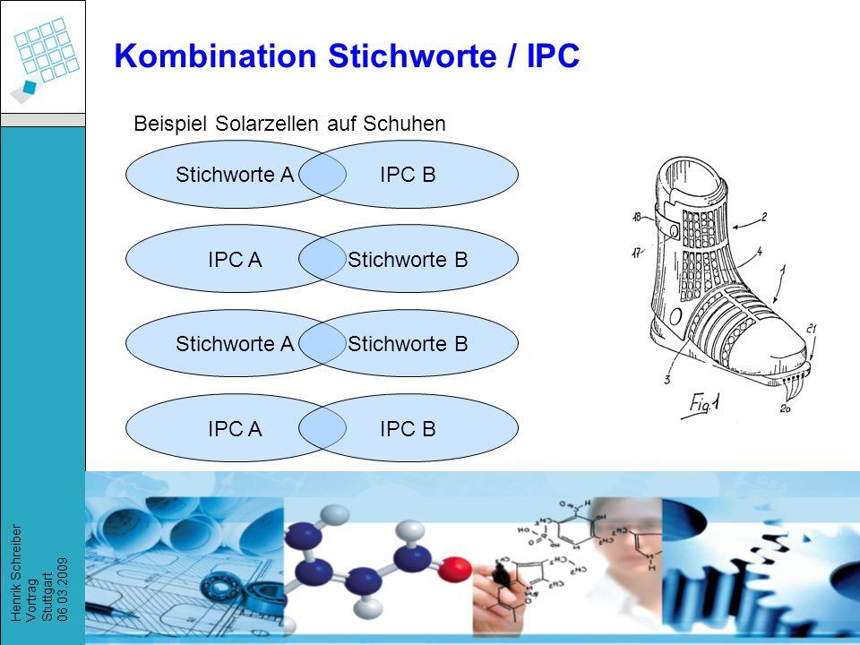 Kombination Stichworte / IPC