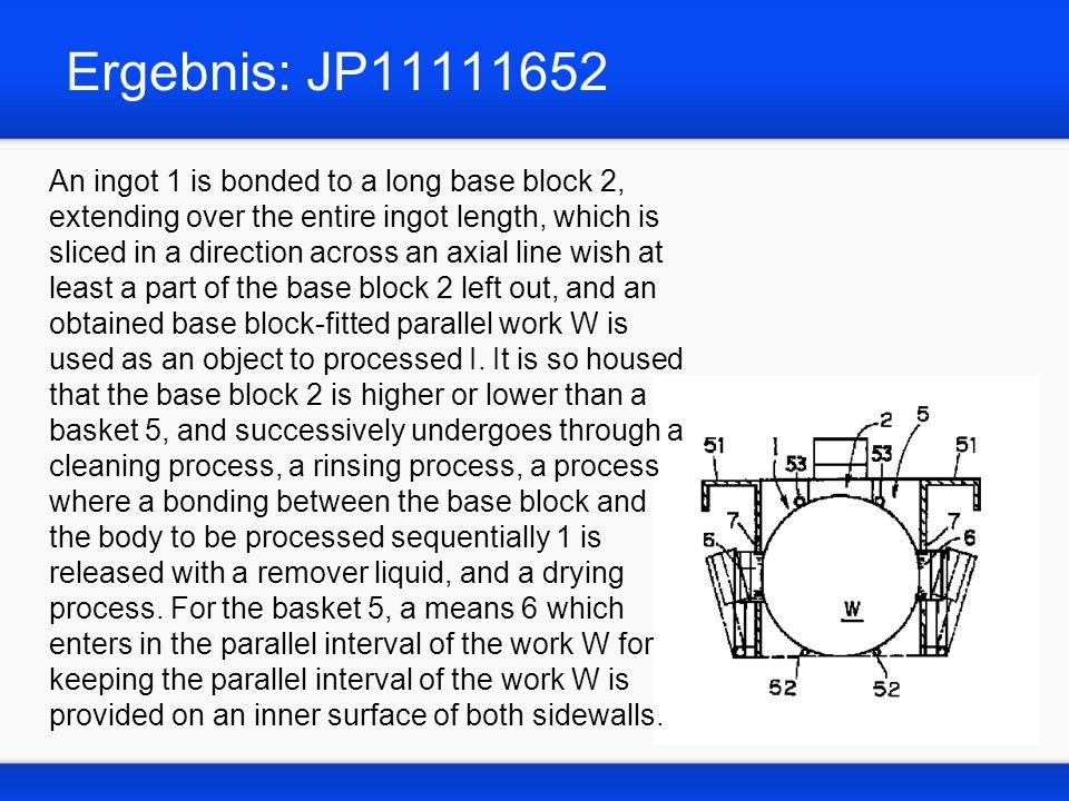 Ergebnis: JP11111652