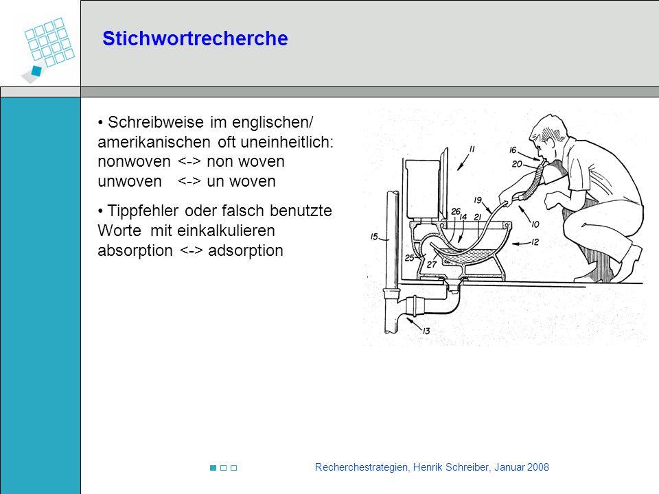 Stichwortrecherche Schreibweise im englischen/