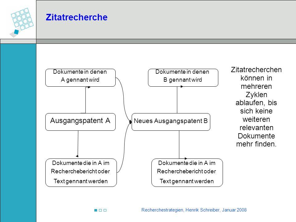 Zitatrecherche Zitatrecherchen können in mehreren Zyklen ablaufen, bis sich keine weiteren relevanten Dokumente mehr finden.