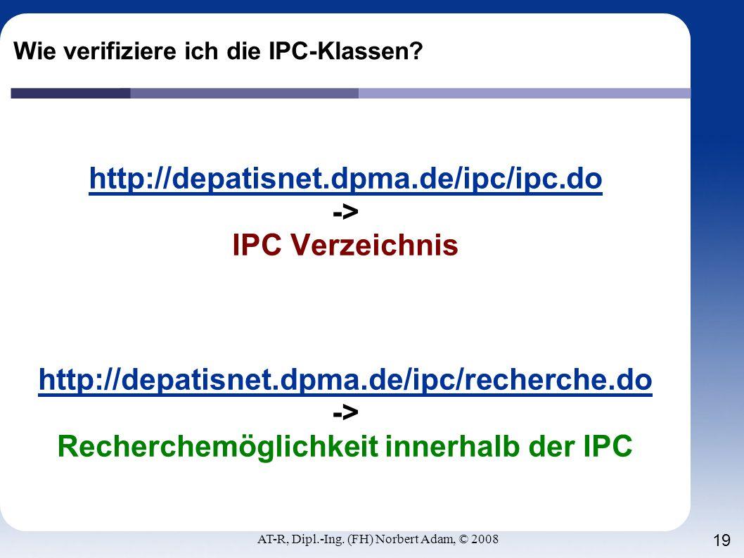 Wie verifiziere ich die IPC-Klassen