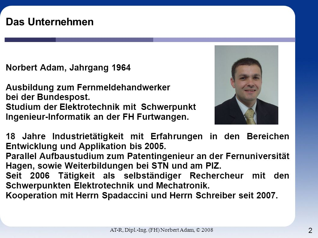 AT-R, Dipl.-Ing. (FH) Norbert Adam, © 2008