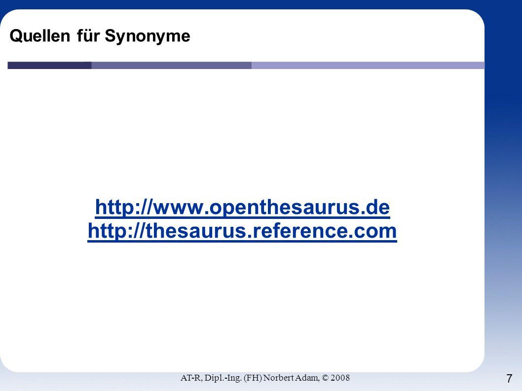 http://www.openthesaurus.de http://thesaurus.reference.com