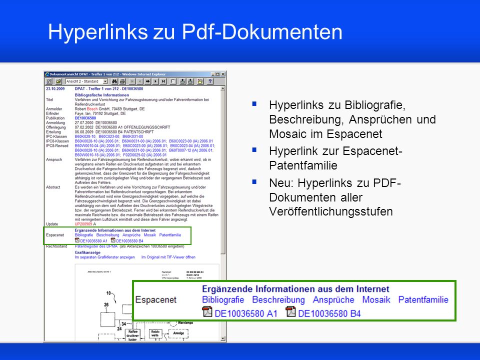 Hyperlinks zu Pdf-Dokumenten