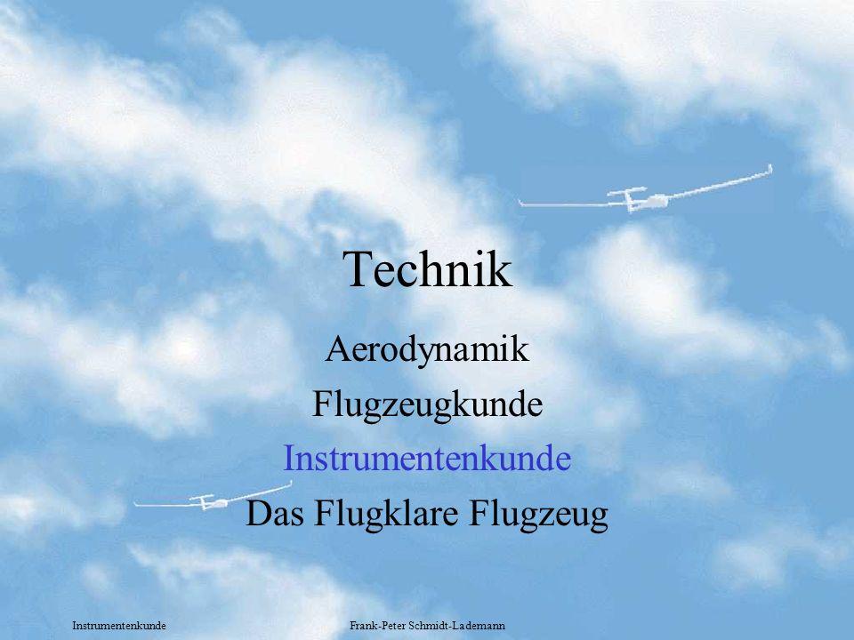 Aerodynamik Flugzeugkunde Instrumentenkunde Das Flugklare Flugzeug