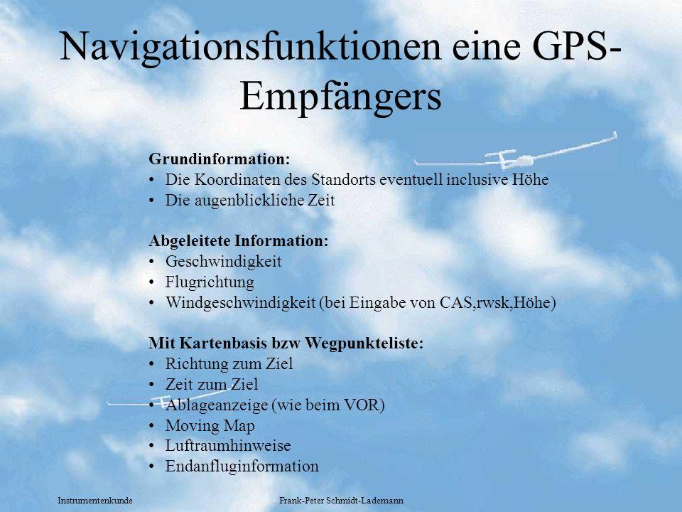 Navigationsfunktionen eine GPS-Empfängers