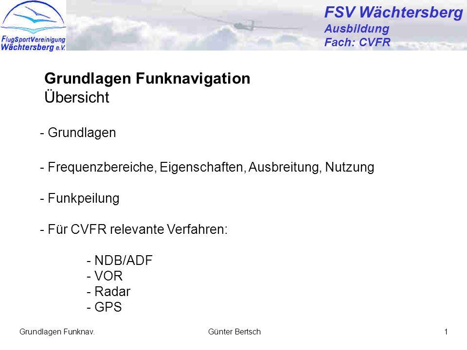 Grundlagen Funknavigation Übersicht