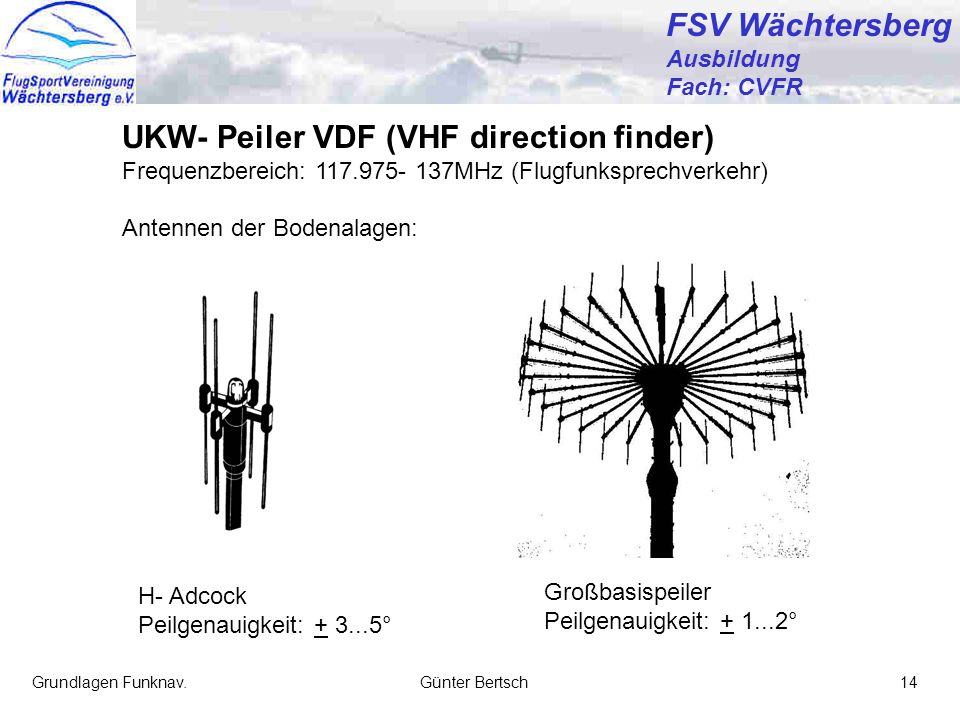 UKW- Peiler VDF (VHF direction finder)