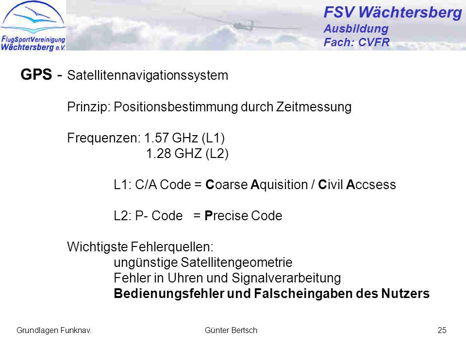 GPS - Satellitennavigationssystem