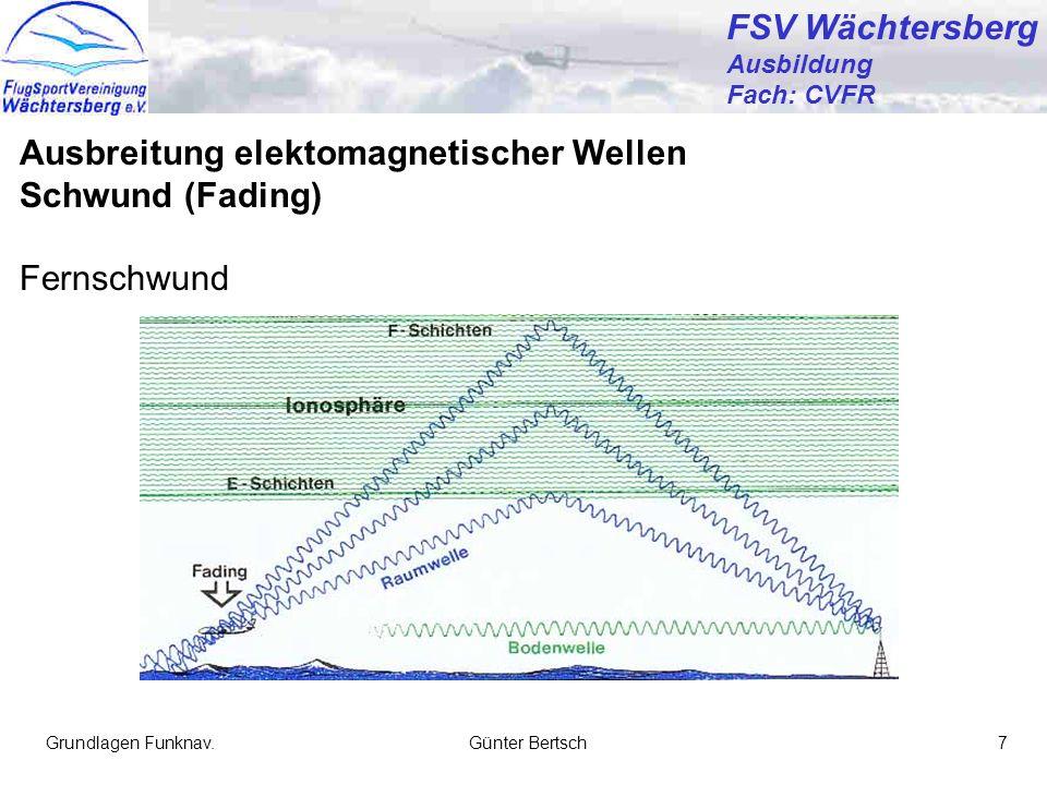 Ausbreitung elektomagnetischer Wellen Schwund (Fading) Fernschwund