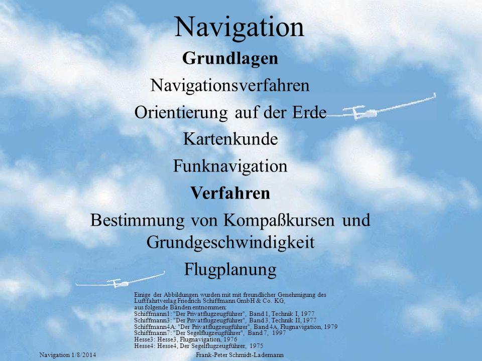 Navigation Grundlagen Navigationsverfahren Orientierung auf der Erde