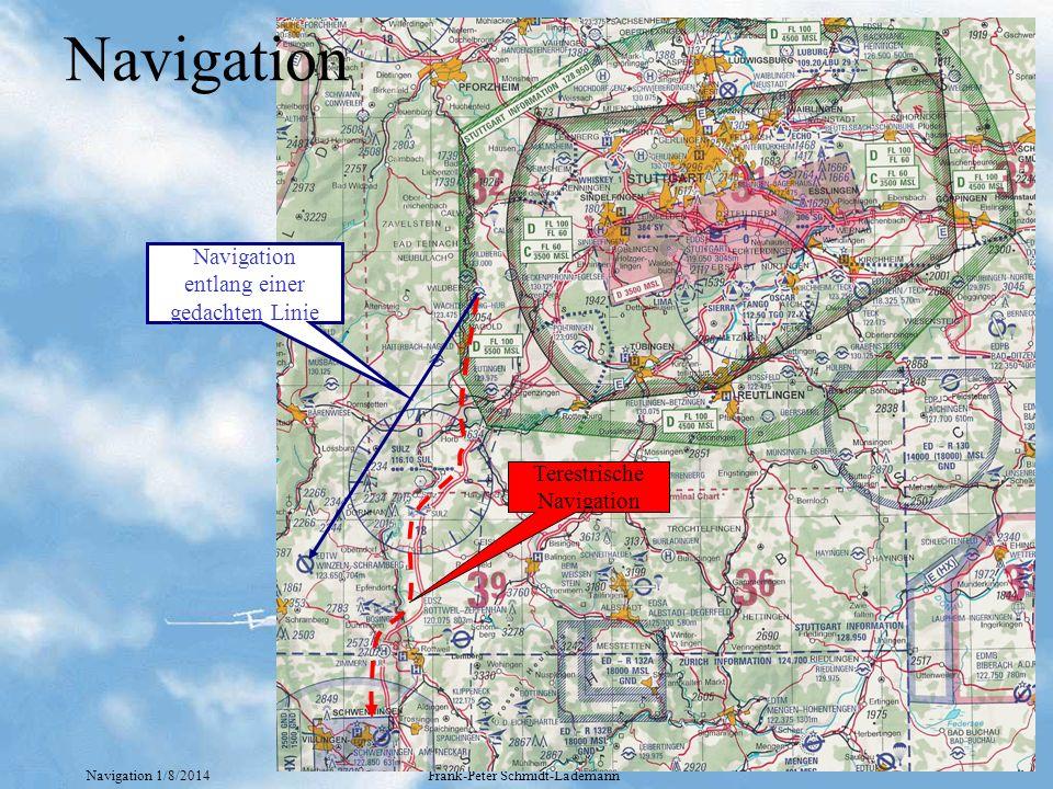 Navigation Navigation entlang einer gedachten Linie