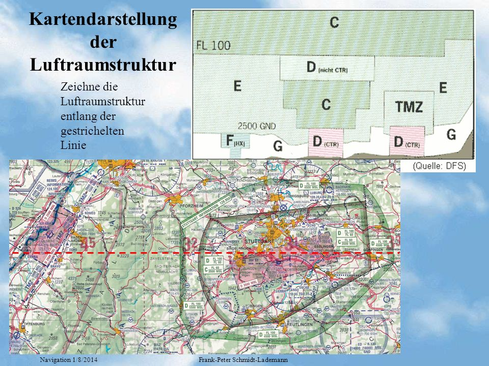 Kartendarstellung der Luftraumstruktur