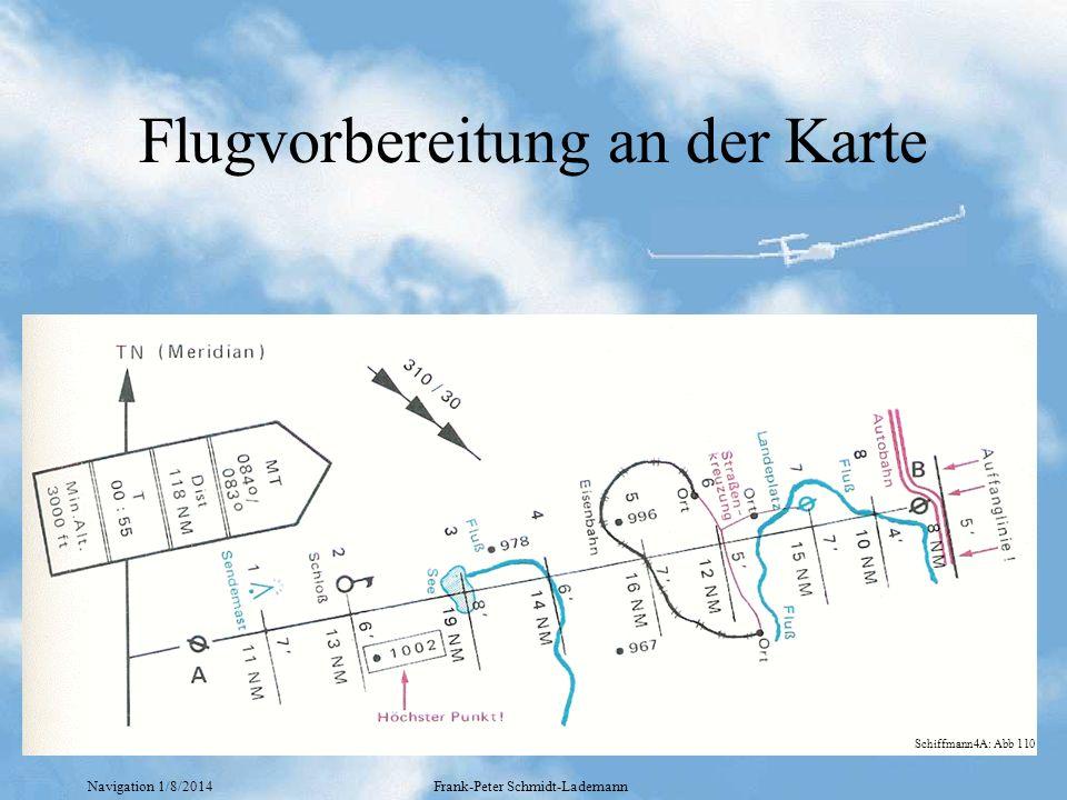 Flugvorbereitung an der Karte