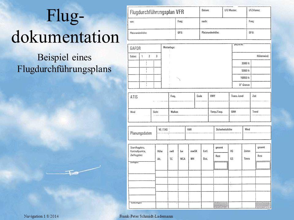 Flug-dokumentation Beispiel eines Flugdurchführungsplans