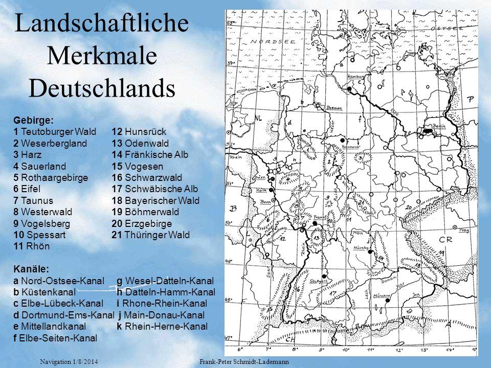 Landschaftliche Merkmale Deutschlands