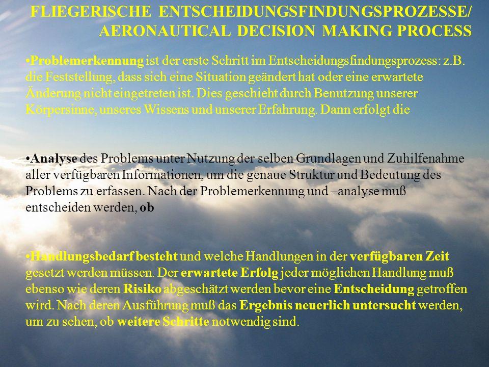 FLIEGERISCHE ENTSCHEIDUNGSFINDUNGSPROZESSE/ AERONAUTICAL DECISION MAKING PROCESS