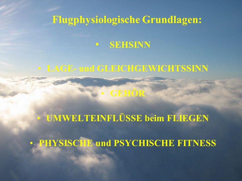 Flugphysiologische Grundlagen: