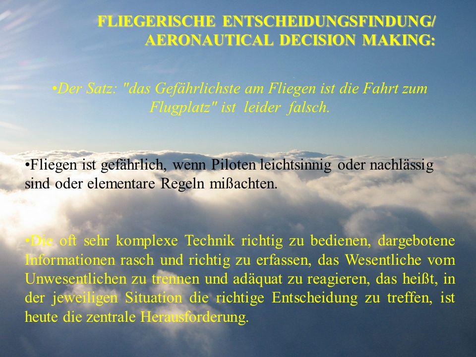 FLIEGERISCHE ENTSCHEIDUNGSFINDUNG/ AERONAUTICAL DECISION MAKING: