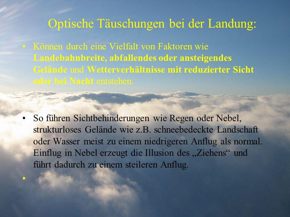 Optische Täuschungen bei der Landung: