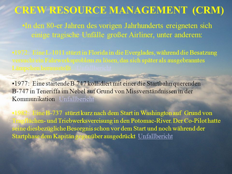 CREW RESOURCE MANAGEMENT (CRM)