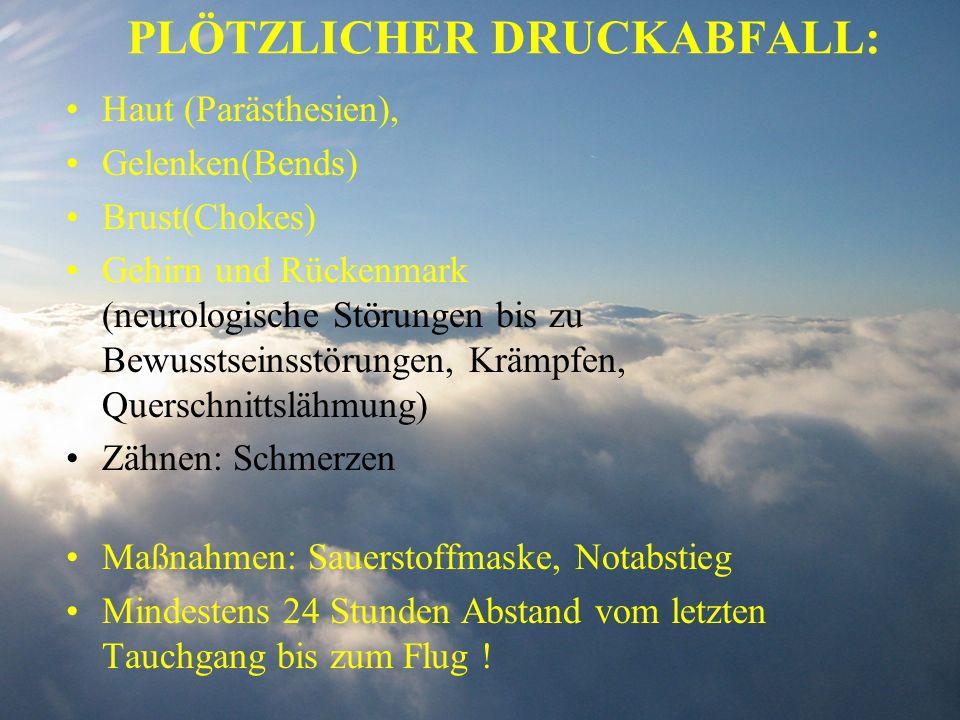 PLÖTZLICHER DRUCKABFALL: