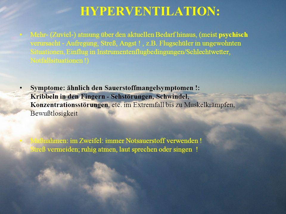 HYPERVENTILATION: