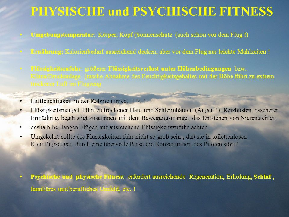 PHYSISCHE und PSYCHISCHE FITNESS