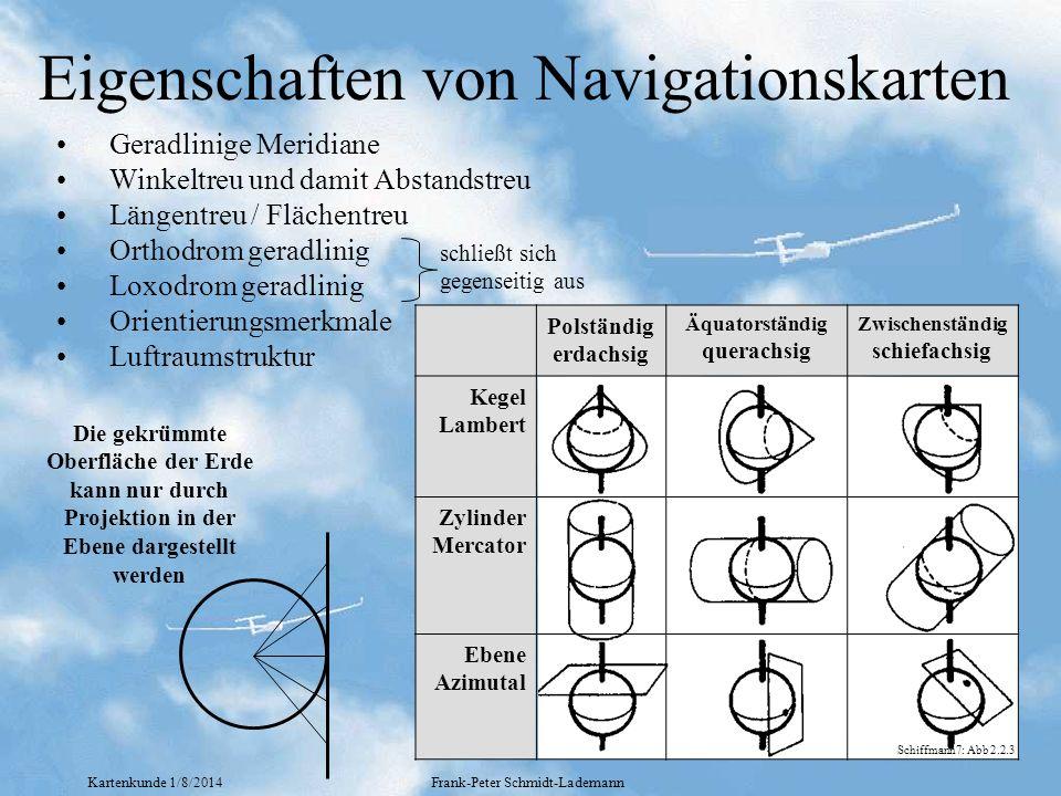 Eigenschaften von Navigationskarten
