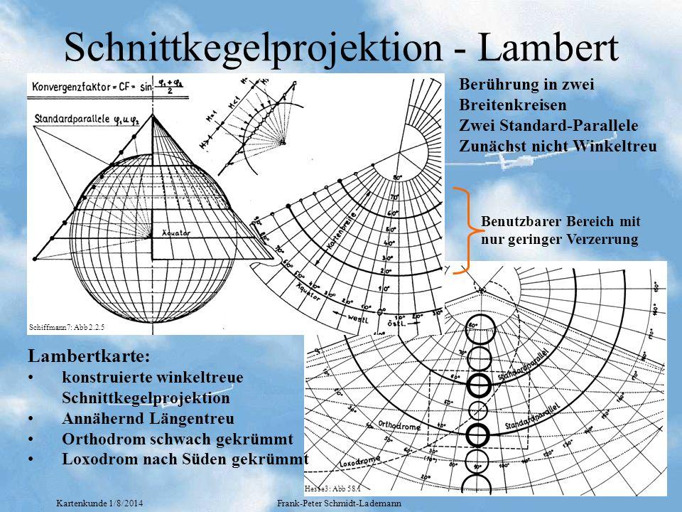 Schnittkegelprojektion - Lambert
