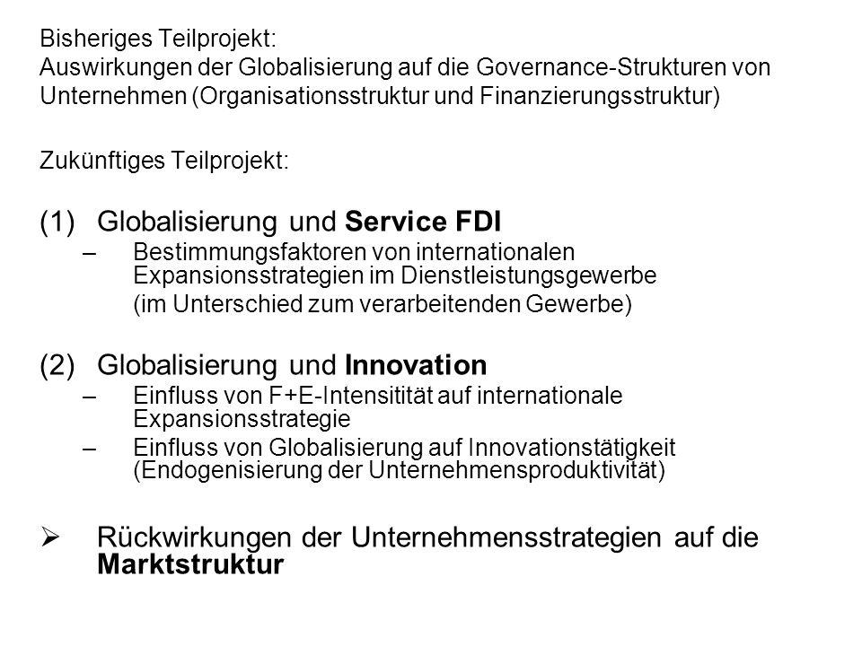 Globalisierung und Service FDI