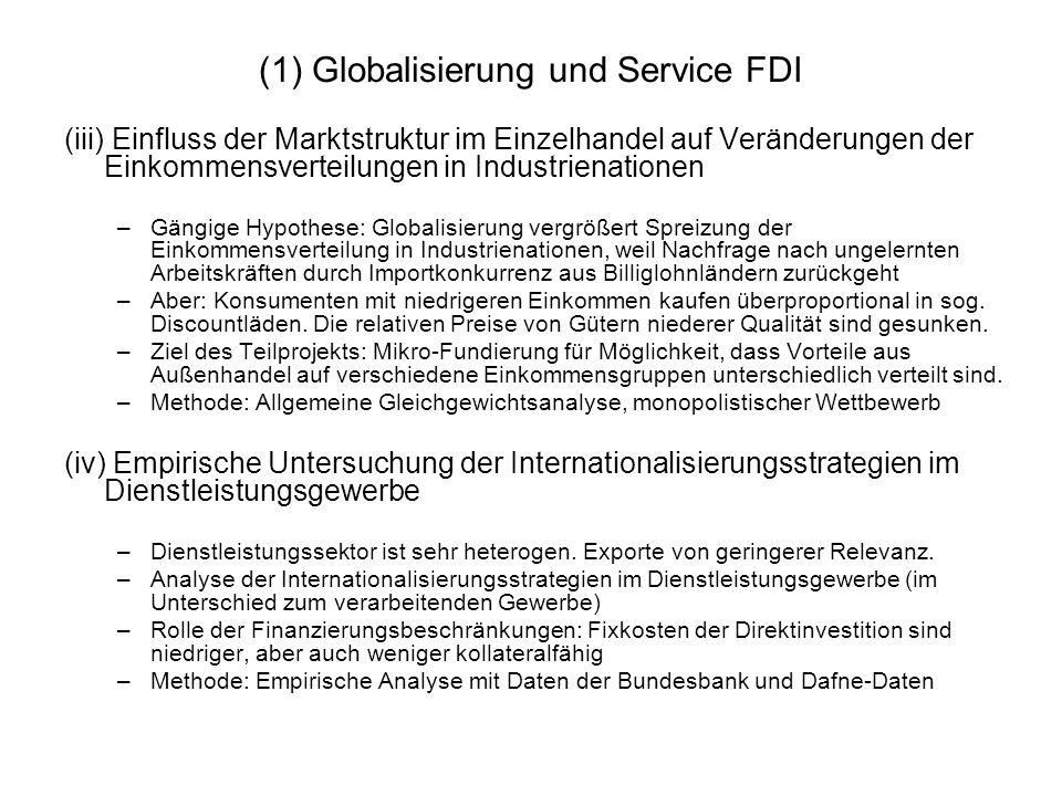 (1) Globalisierung und Service FDI