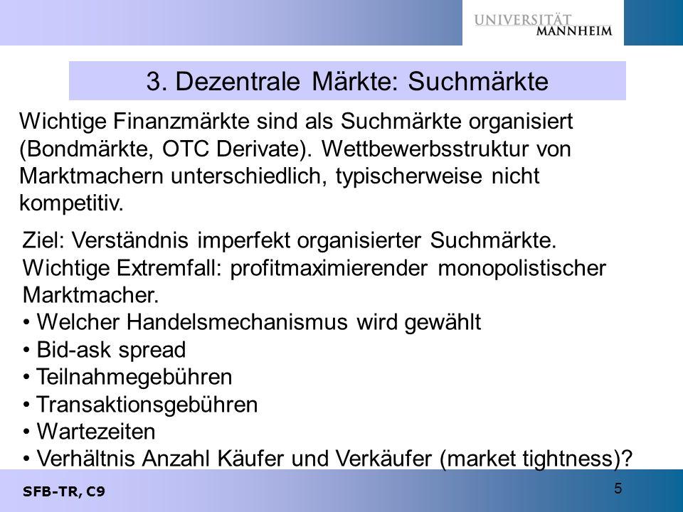 3. Dezentrale Märkte: Suchmärkte
