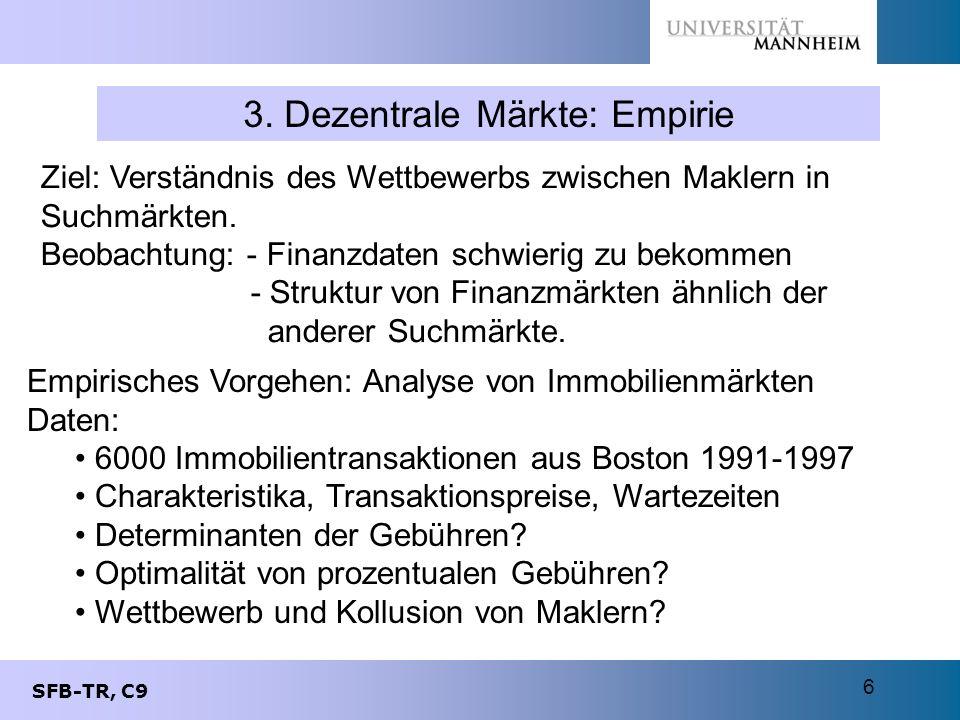 3. Dezentrale Märkte: Empirie