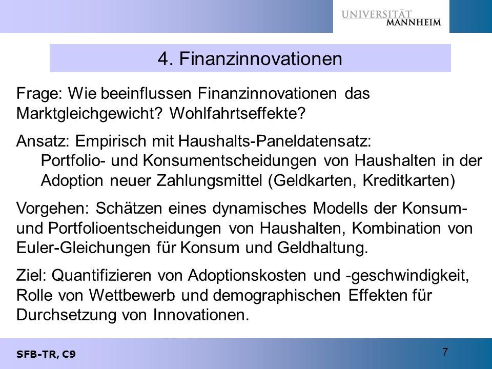 4. Finanzinnovationen Frage: Wie beeinflussen Finanzinnovationen das Marktgleichgewicht Wohlfahrtseffekte