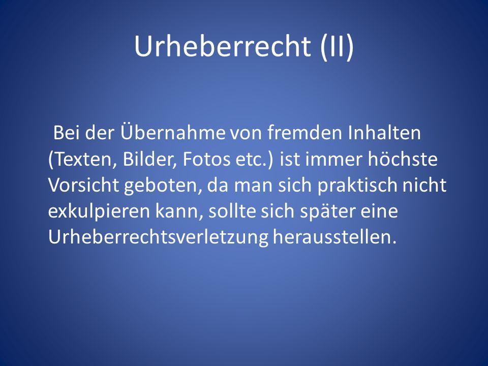 Urheberrecht (II)