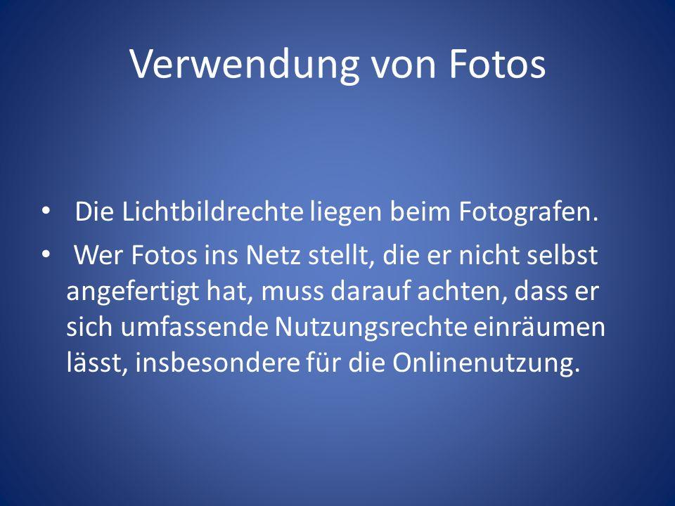 Verwendung von Fotos Die Lichtbildrechte liegen beim Fotografen.