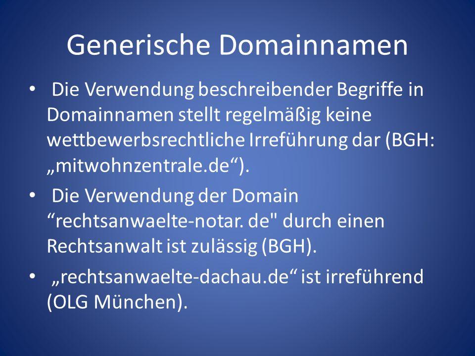 Generische Domainnamen