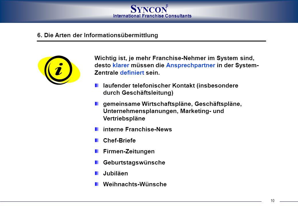 6. Die Arten der Informationsübermittlung
