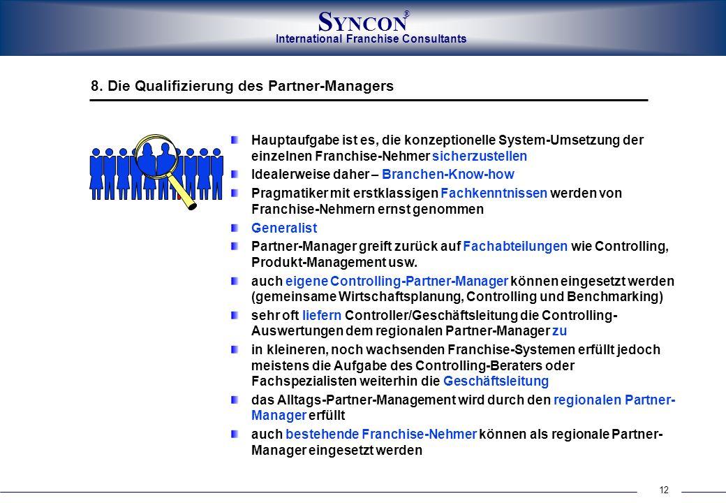 8. Die Qualifizierung des Partner-Managers