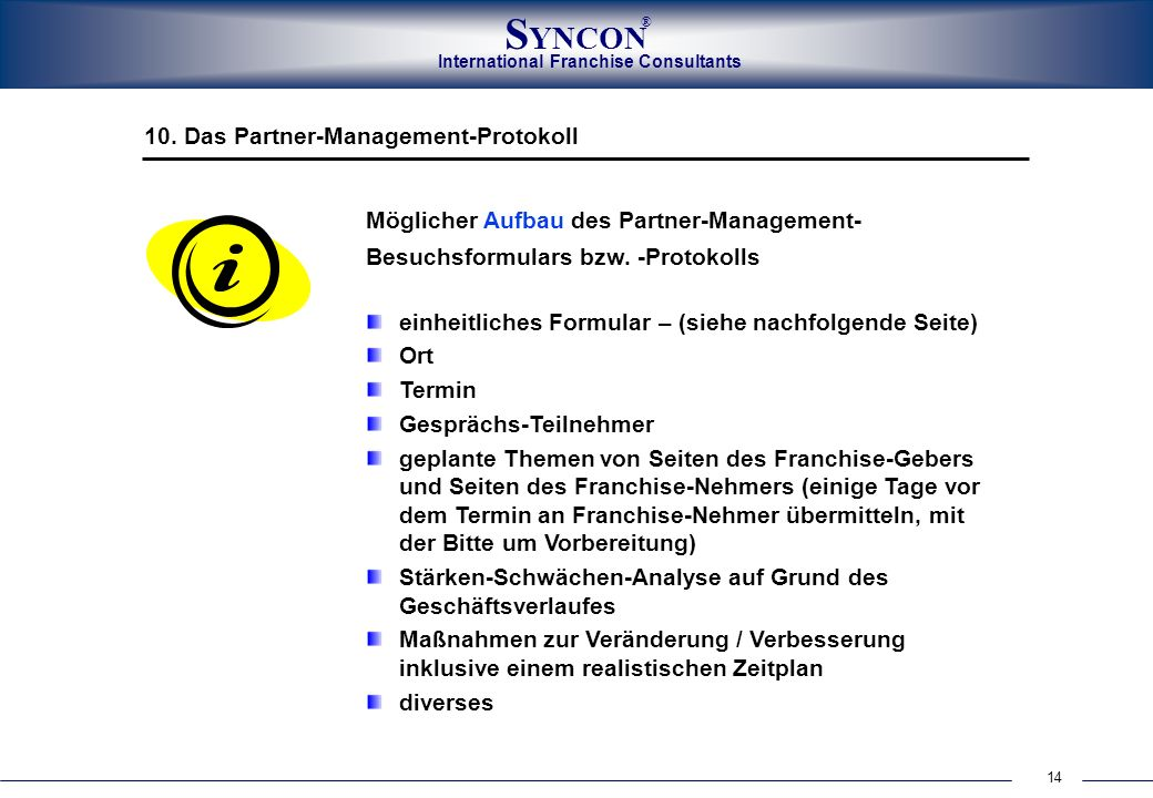 10. Das Partner-Management-Protokoll