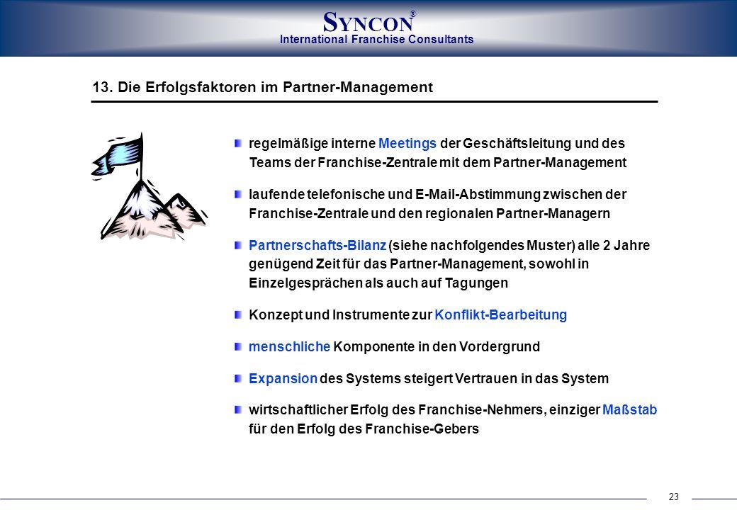 13. Die Erfolgsfaktoren im Partner-Management