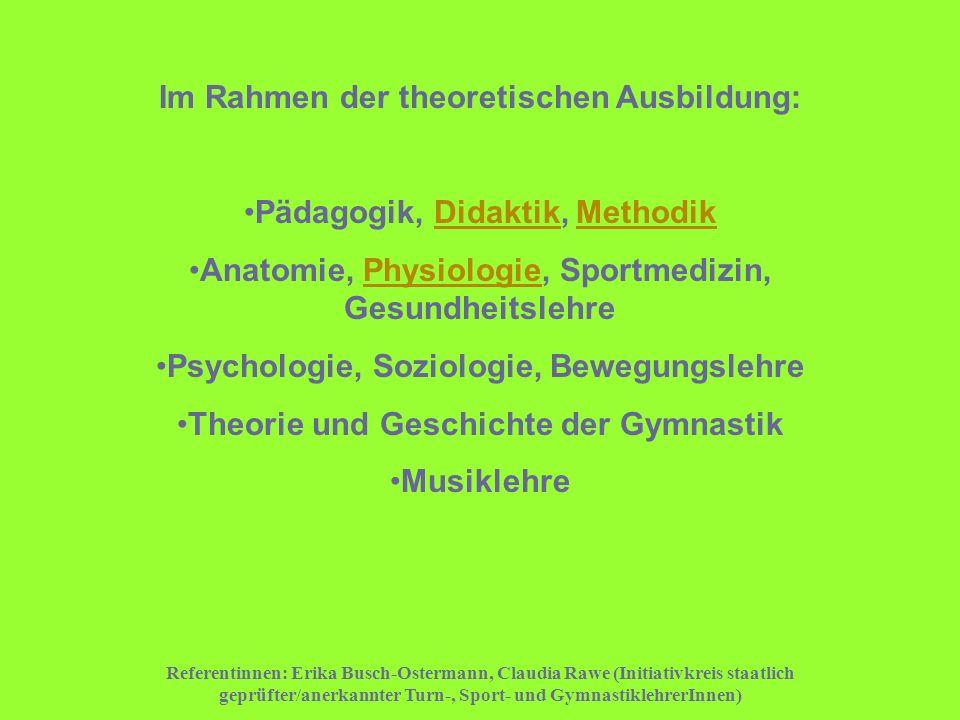 Im Rahmen der theoretischen Ausbildung: