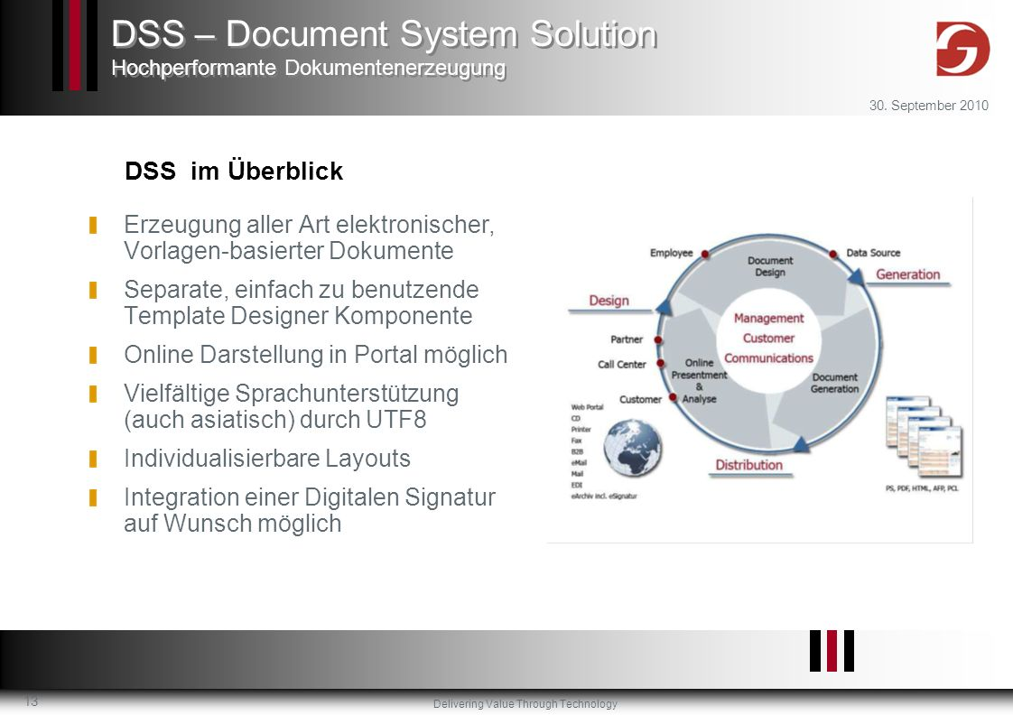 DSS – Document System Solution Hochperformante Dokumentenerzeugung